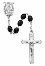 McVan Small Oval Black Wood Rosary