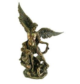"""Goldscheider of Vienna 10"""" St. Michael Statue Bronzed"""