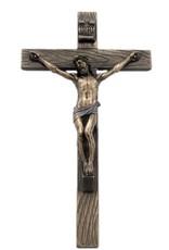 """Goldscheider of Vienna 10"""" Crucifix Lightly Hand-Painted Cold-Cast Bronze"""