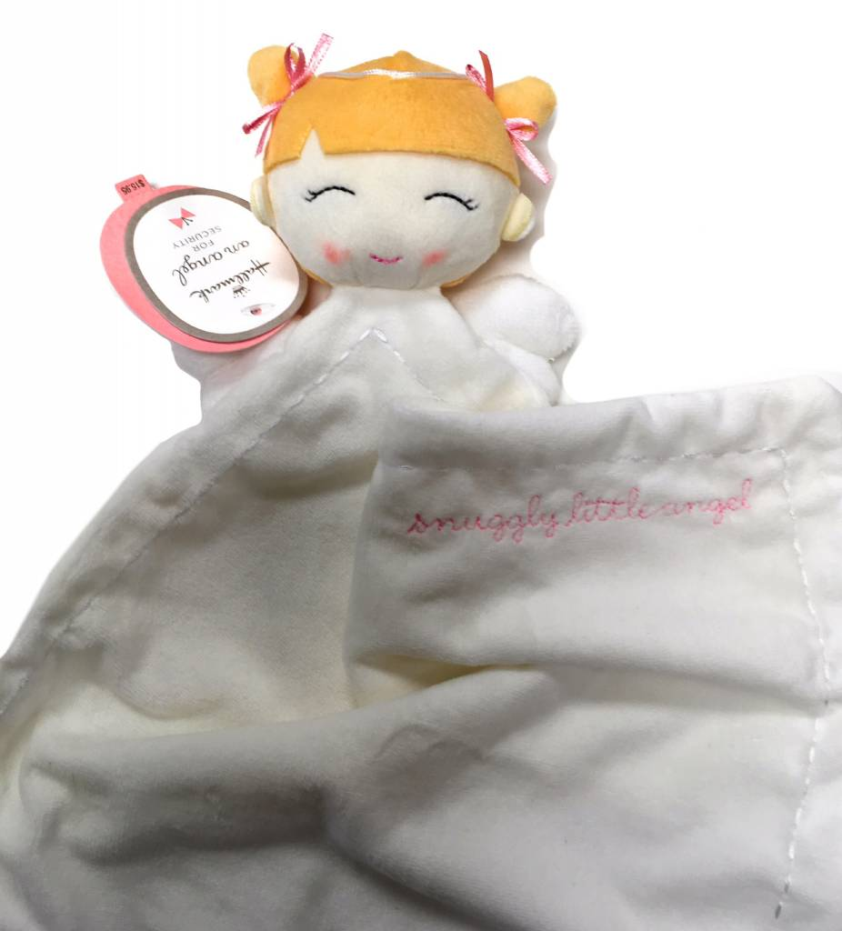 "Hallmark Girl Angel Soft Security Comfort Blanket 15.5"" W x 18"" H Portable Size"