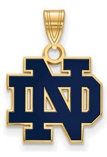 Quality Gold Inc. Blue University of Notre Dame Logo Pendant Gold Plated Fighting Irish Charm
