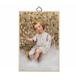 WJ Hirten Baby Jesus Mosaic Plaque