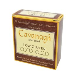 "Cavanagh Low Gluten Altar Bread 1 3/8"" (35mm) - Box of 25 Individually Wrapped Hosts"