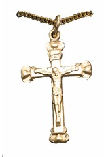 "Bliss Manufacturing Gold Filled Heart Crucifix Pendant Charm with 18"" Chain Necklace"