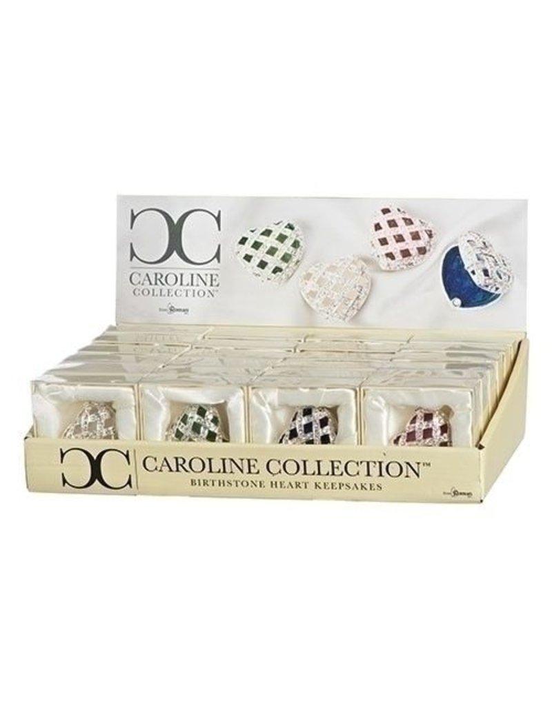 Roman, Inc Assorted Birthstone Color Royal Heart Keepsake Boxes Caroline Collection Sold Invididually