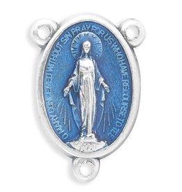 "WJ Hirten 3/4"" Blue Enameled Miraculous Centerpiece"