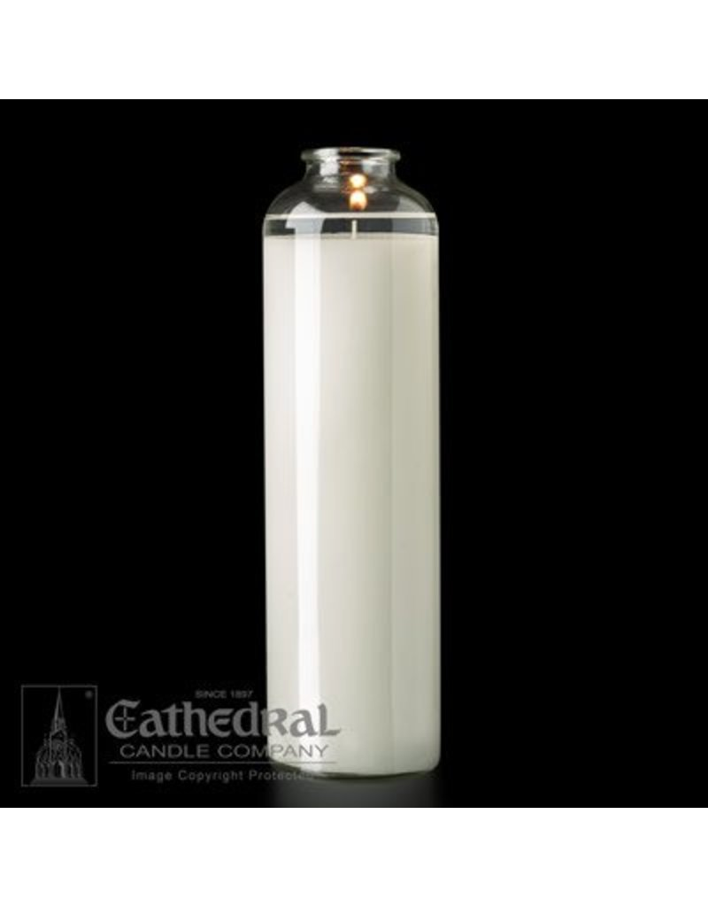 Cathedral Candle Co. 14 Day SacraLite Glass Sanctuary Light (Not Beeswax, Bottle Style, Box of 9)