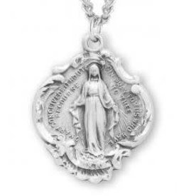 HMH Religious Sterling Silver Baroque Style Miraculous Medal