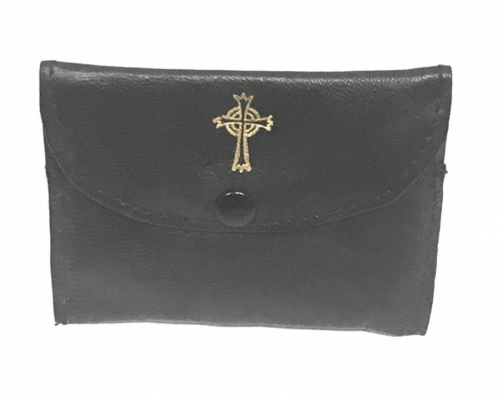 MDS Black Sheepskin Rosary Case