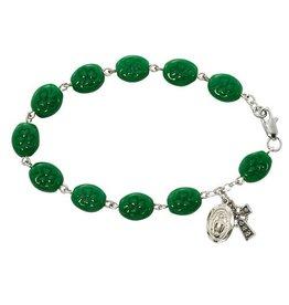 "McVan 7 1/2"" Green Shamrock Bracelet"