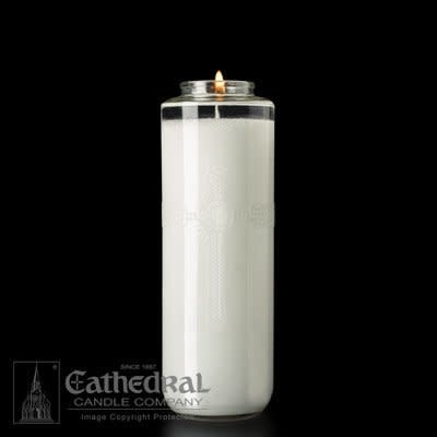 Cathedral Candle Co. 8 Day SacraLite Glass Sanctuary Light (Not Beeswax, Bottle Style, Box of 6)