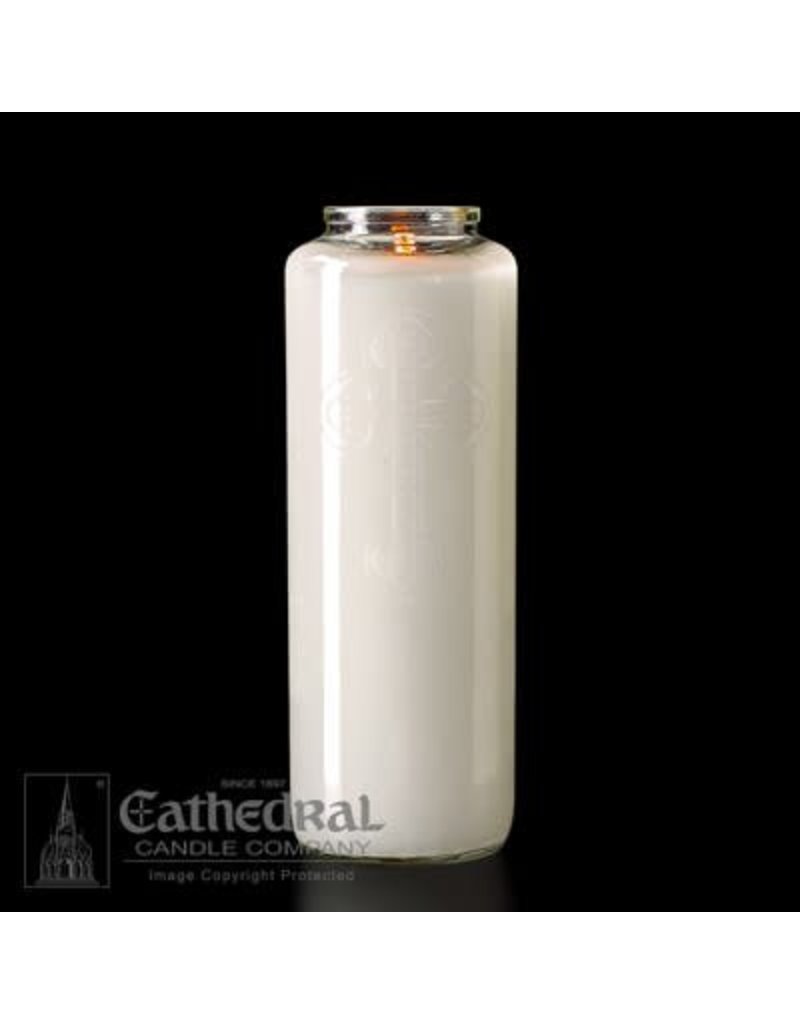 Cathedral Candle Co. 6 Day Votive Light in Glass (Crystal, Bottle Style, Box of 12)