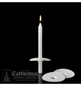 "Cathedral Candle Co. Bobeche for 1/2"" Candle (Unprinted, Single Drip Protector)"