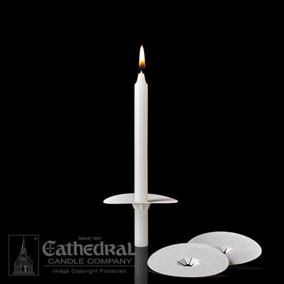 """Cathedral Candle Co. Bobeche for 1/2"""" Candle (Unprinted, Single Drip Protector)"""