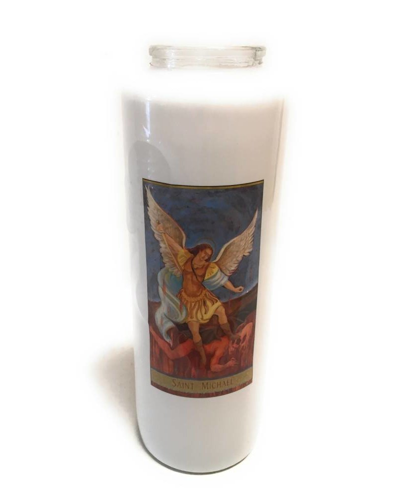 Cathedral Candle Co. 6 Day Sacred Images Candle (Bottle Style)
