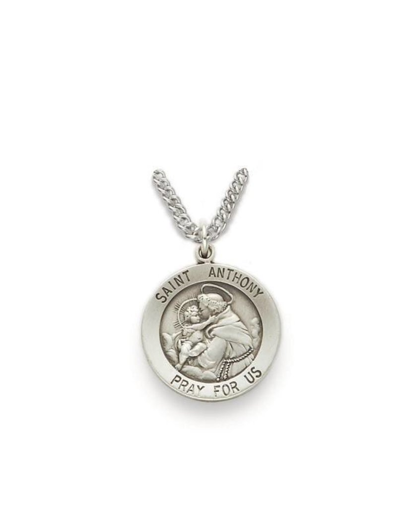 """Singer St. Anthony of Padua Medal Pendant With 24"""" Chain Necklace"""
