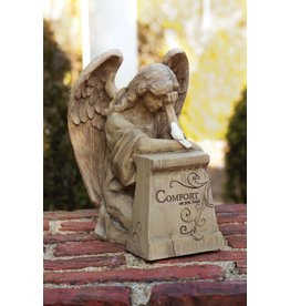 "The Wish Givers Collection ""Comfort as you heal"" Angel Statuary with Dove, 10 Inch"