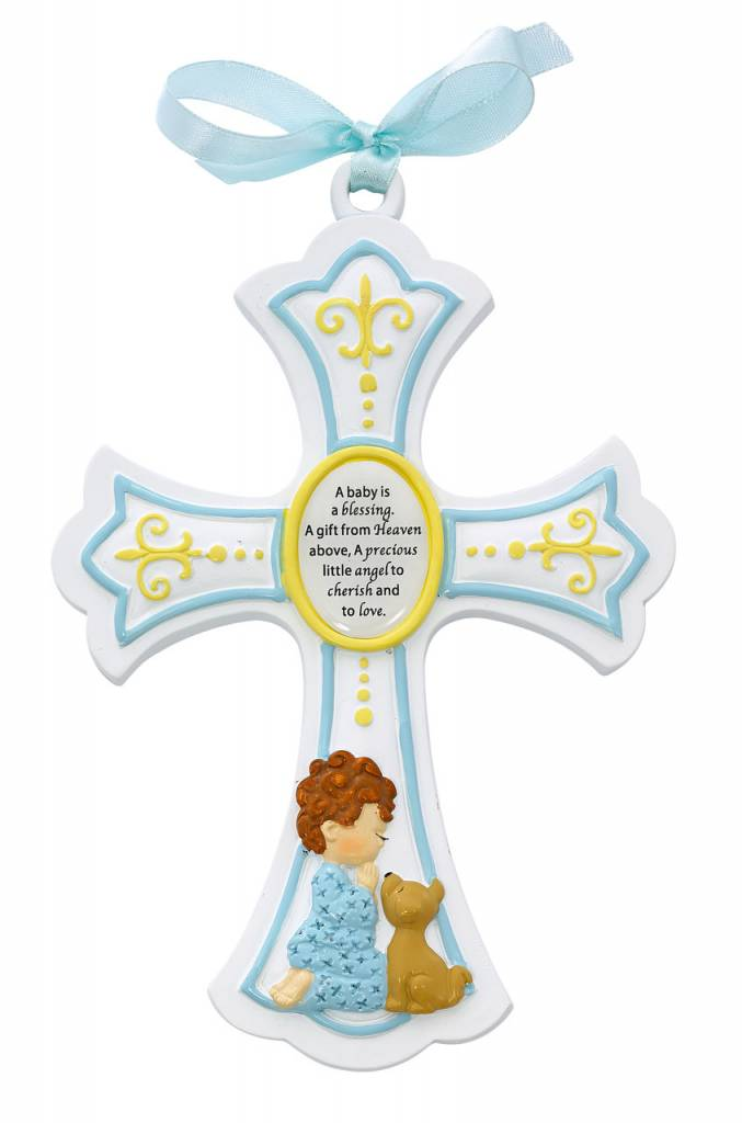 "McVan 7"" Resin Cross Baby Boy"