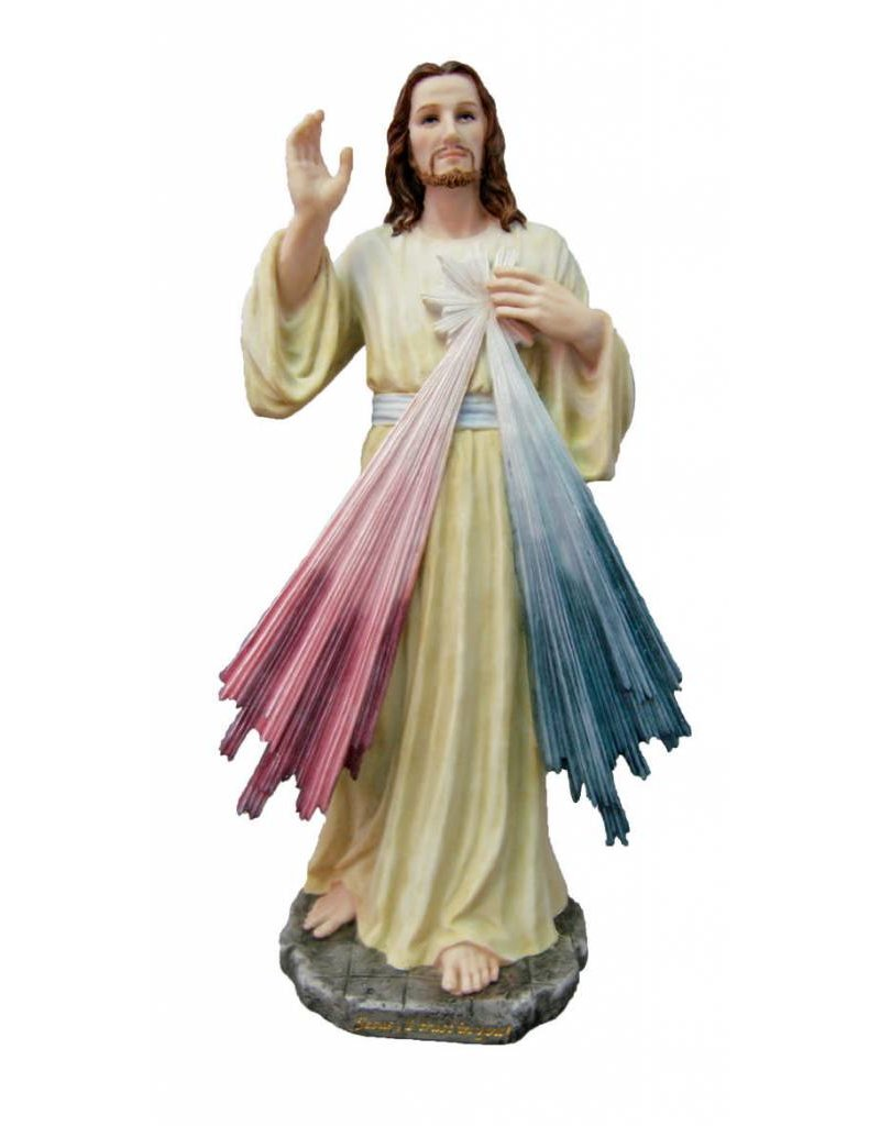 "Veronese Collection Divine Mercy Statue 12"" Veronesse Collection Hand-Painted"