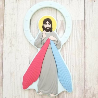 Chews Life Teething Toy Chews Life Divine Mercy Teether