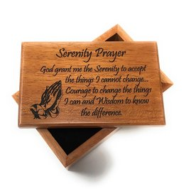 HJ Sherman Serenity Prayer Keepsake Box