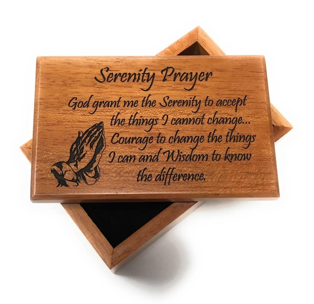 HJ Sherman Serenity Prayer Keepsake Box