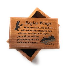 HJ Sherman Eagle Wings Keepsake Box