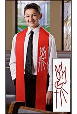Christian Brands Confirmation Stole Red With Holy Spirit Descending