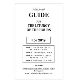 Catholic Book Publishing Corp 2019 Saint Joseph Guide for the Liturgy of the Hours (For The Large Print 4 Volume Set)