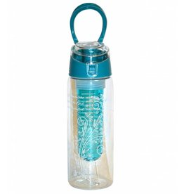 Divinity Boutique Fruit Infuser Water Bottle Bible Verse Teal