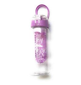 Divinity Boutique Fruit Infuser Water Bottle Bible Verse Light Purple