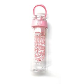 Nicole Brayden Gifts LLC Fruit Infuser Water Bottle with Bible Verse (Pink)