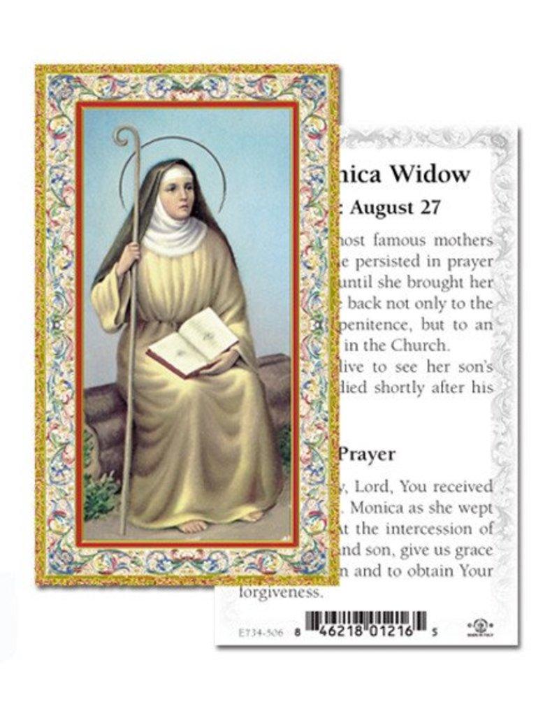 WJ Hirten St. Monica Paper Holy Card