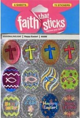 Tyndale House Publishers Happy Easter! Stickers (6 Sheets) (Faith That Sticks)
