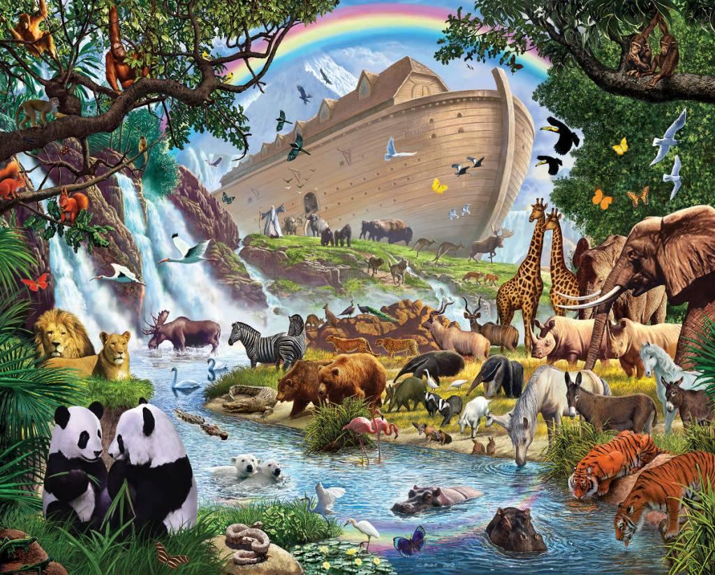 Vermont Christmas Company Jigsaw Puzzle-Noah's Ark (1000 Pieces)