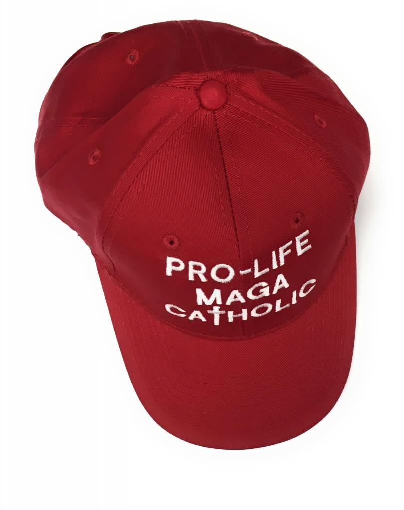 Simply Catholic Red Pro-Life MAGA Catholic Patriot Hat
