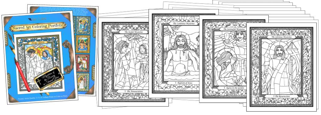 Nippert & Co. Artworks Sacred Art Coloring Portfolio - Mysteries of the Rosary