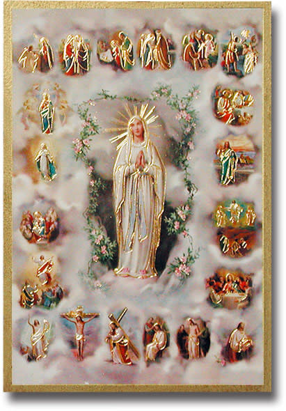 WJ Hirten Mysteries of the Rosary Wall Plaque
