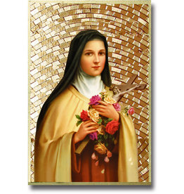 WJ Hirten St. Therese Mosaic Wall Plaque