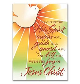 """The Printery House """"The Light of the Holy Spirit..."""" Confirmation Greeting Card"""