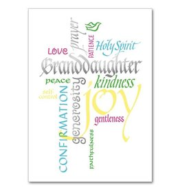 The Printery House Granddaughter Confirmation Greeting Card