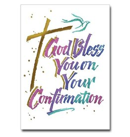 """The Printery House """"God Bless You"""" Confirmation Greeting Card"""