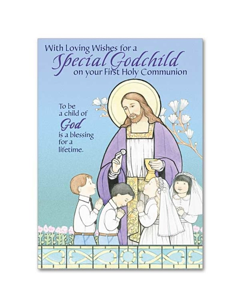 The Printery House Special Godchild First Holy Communion Greeting Card