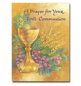 "The Printery House ""A Prayer"" First Holy Communion Greeting Card"