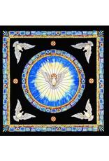 Abbey Gift Tiffany Holy Spirit Window Silk Square