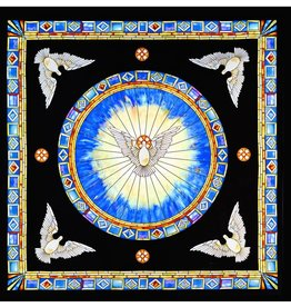 Christian Silks Tiffany Holy Spirit Window Silk Square by Christian Silks