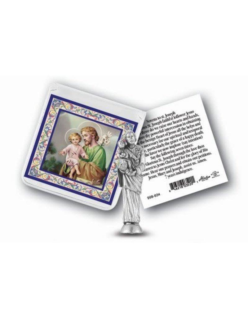 WJ Hirten Pocket Statue with Prayer Card Set