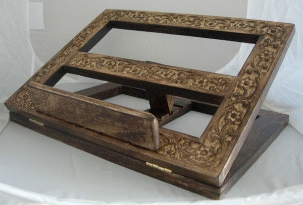 MDS Hand Carved Antique Look Bible Stand