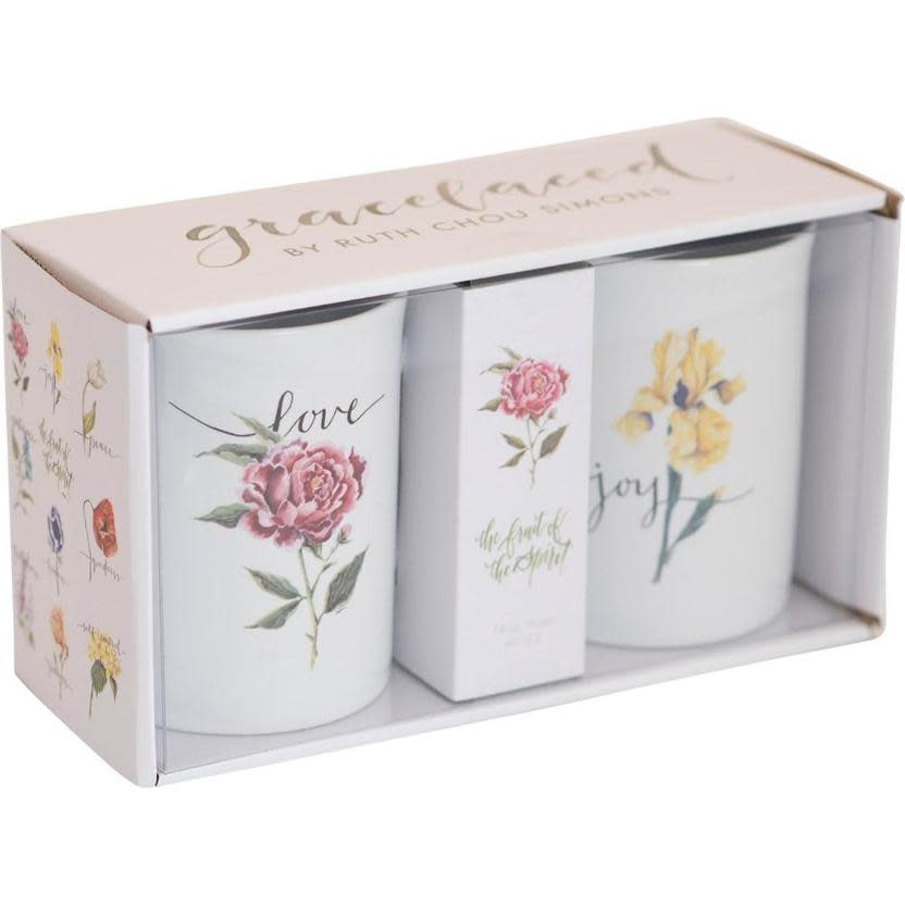 Carpentree Fruit of the Spirit Joy & Love Boxed Mug Set