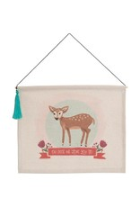 Carpentree Oh Deer Hanging Banner with Tassel